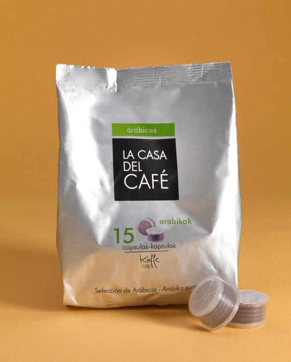 Cápsulas Koffee Cup de café Arábicas
