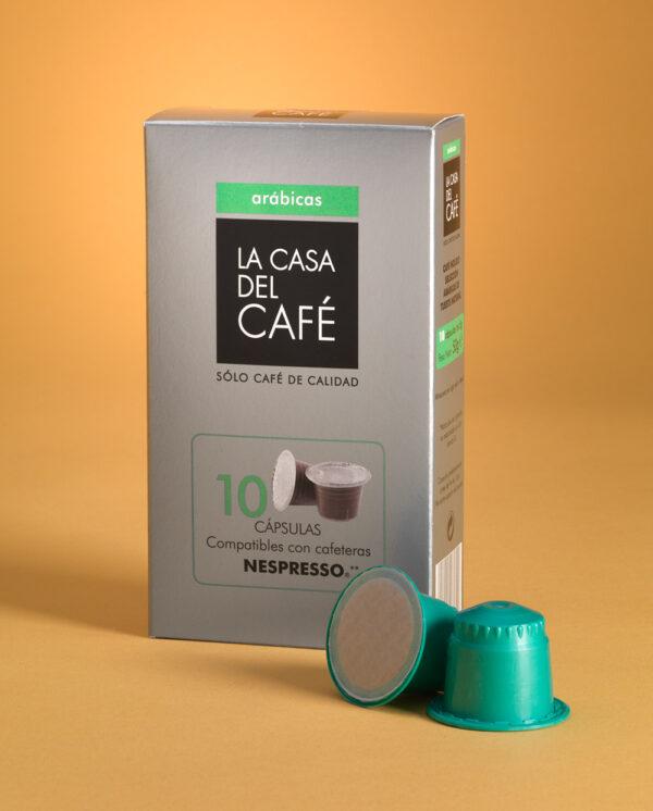 Cápsulas de café Arábicas intenso compatibles con nespresso