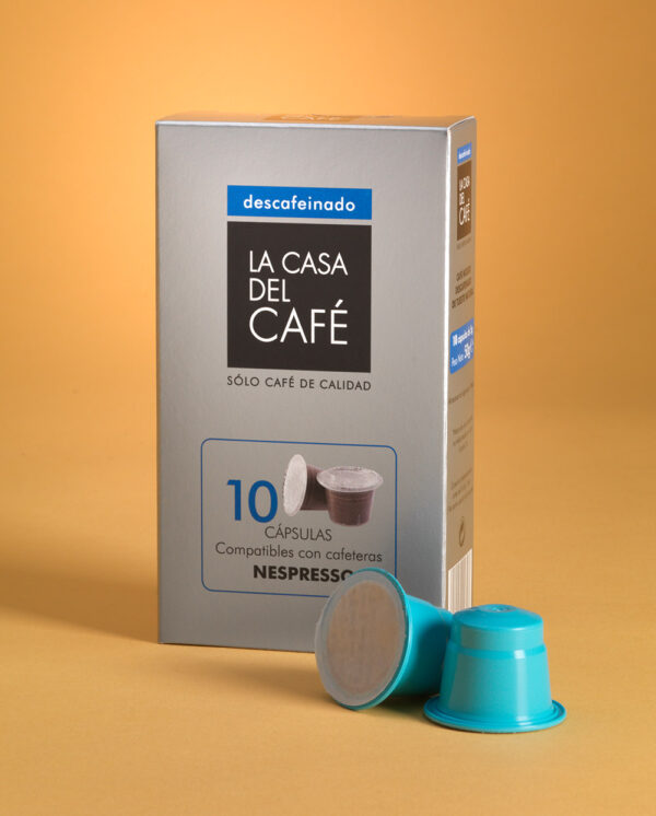 Cápsulas de café descafeinado compatibles con Nespresso