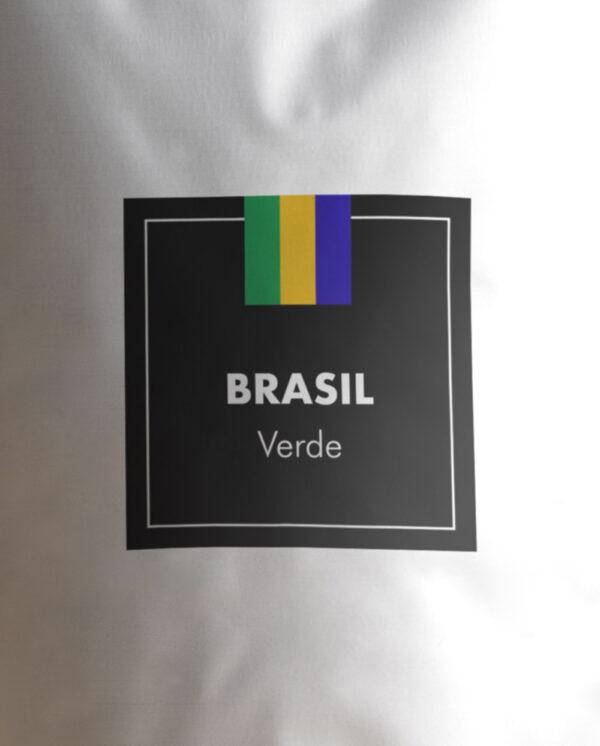 Etiqueta Café verde de Brasil en grano