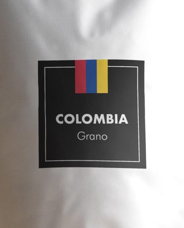Etiqueta Café de Colombia en grano