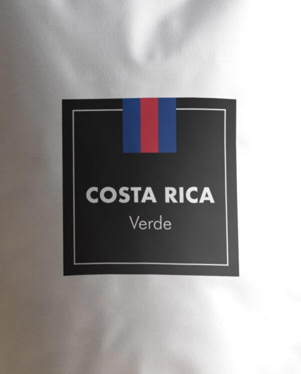 Etiqueta Café verde de Costa Rica en grano