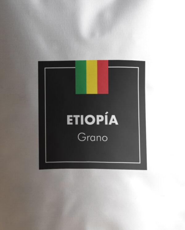 Etiqueta Café de Etiopía en grano