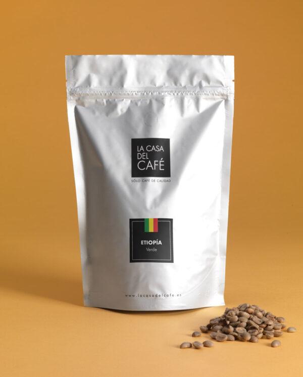 Café verde de Etiopía en grano