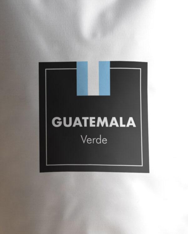 Etiqueta Café verde de Guatemala en grano