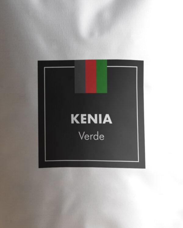 Etiqueta Café verde de Kenia en grano