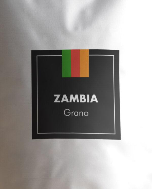 Etiqueta Café de Zambia en grano